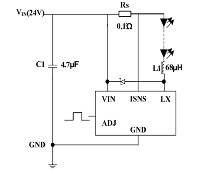 cl6807 耐压35伏内置mos管1a大功率 led驱动器